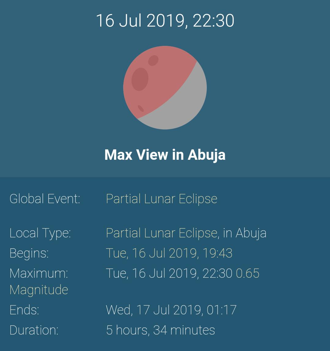 #LunarEclipse2019 As seen from #Abuja...  #LunarEclipse #CanIDM #Twitter<br>http://pic.twitter.com/KVs13mYX63