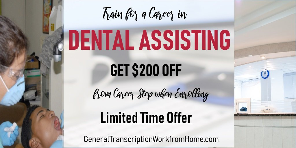 Get a Fulfilling Career as a Dental Assistant. $200  egift card When Enrolling Ends by 7/18 https://bit.ly/2TpiOcC #dentalassistant #training #medical #careers #aff