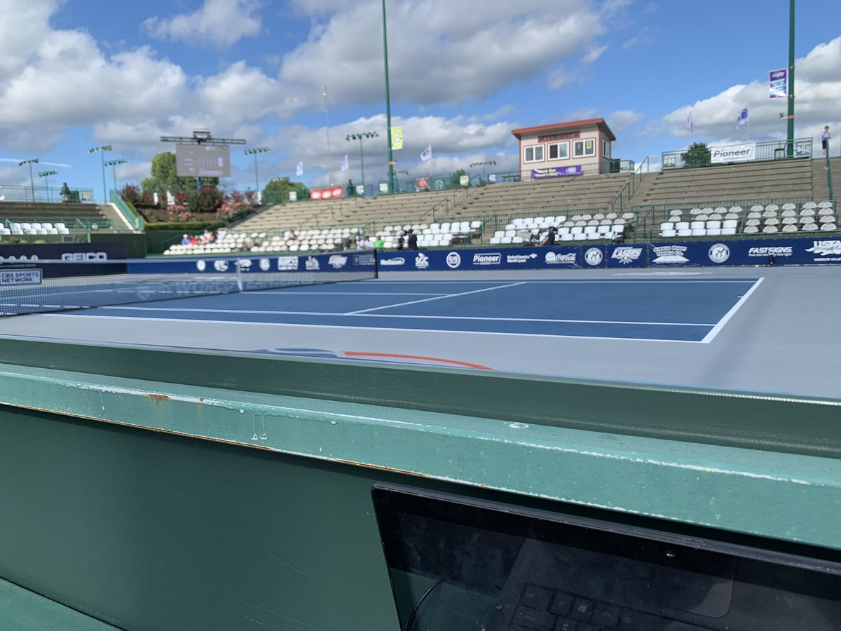 Greetings from press row at Cooper Tennis Complex. The @SGFLasers (1-0) welcome the @OrlandoStormWTT (2-0) in a first-place @WorldTeamTennis showdown. Orlando is a new franchise and Feliciano Lopez, ranked 59th in ATP singles, features for the Storm. #WTT2019<br>http://pic.twitter.com/mKfYpGhNxS