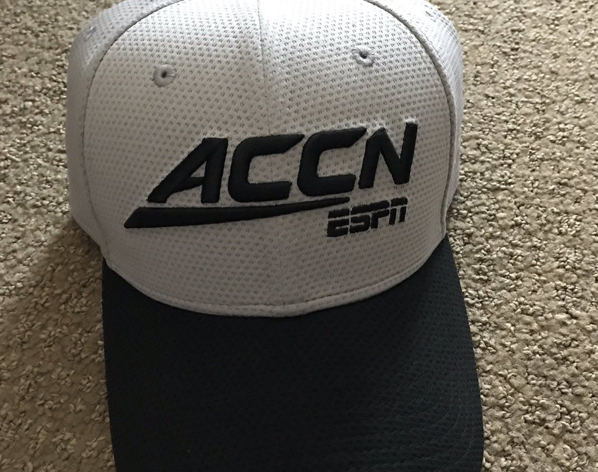 Even hotel staff is wearing @accnetwork garb at #ACCKickoff. Commissioner John Swofford gives state o' conference at 10 a.m., tomorrow. He should wear one of these.<br>http://pic.twitter.com/MN8yb0hUgG