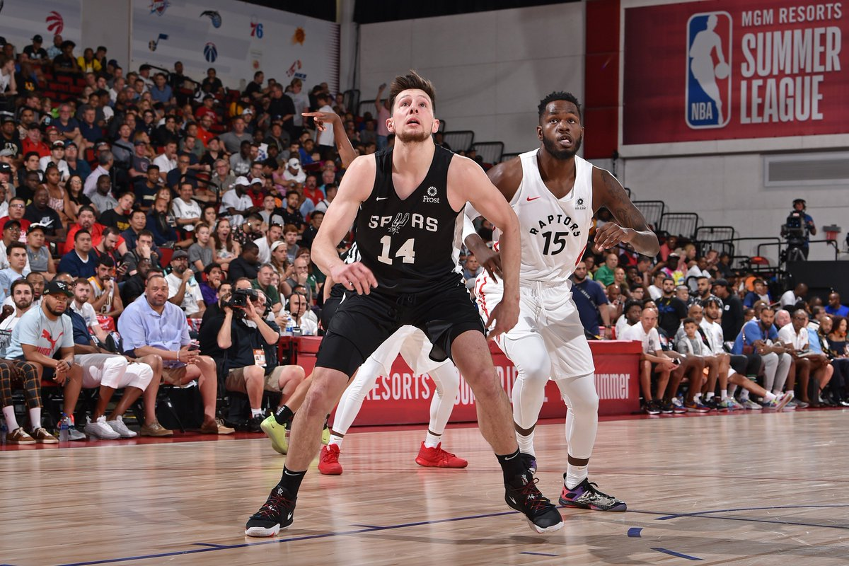 .@DrewEubanks12 did work at @NBASummerLeague! 📊 16.7 PPG | 6 RPG | 1.3 BPG