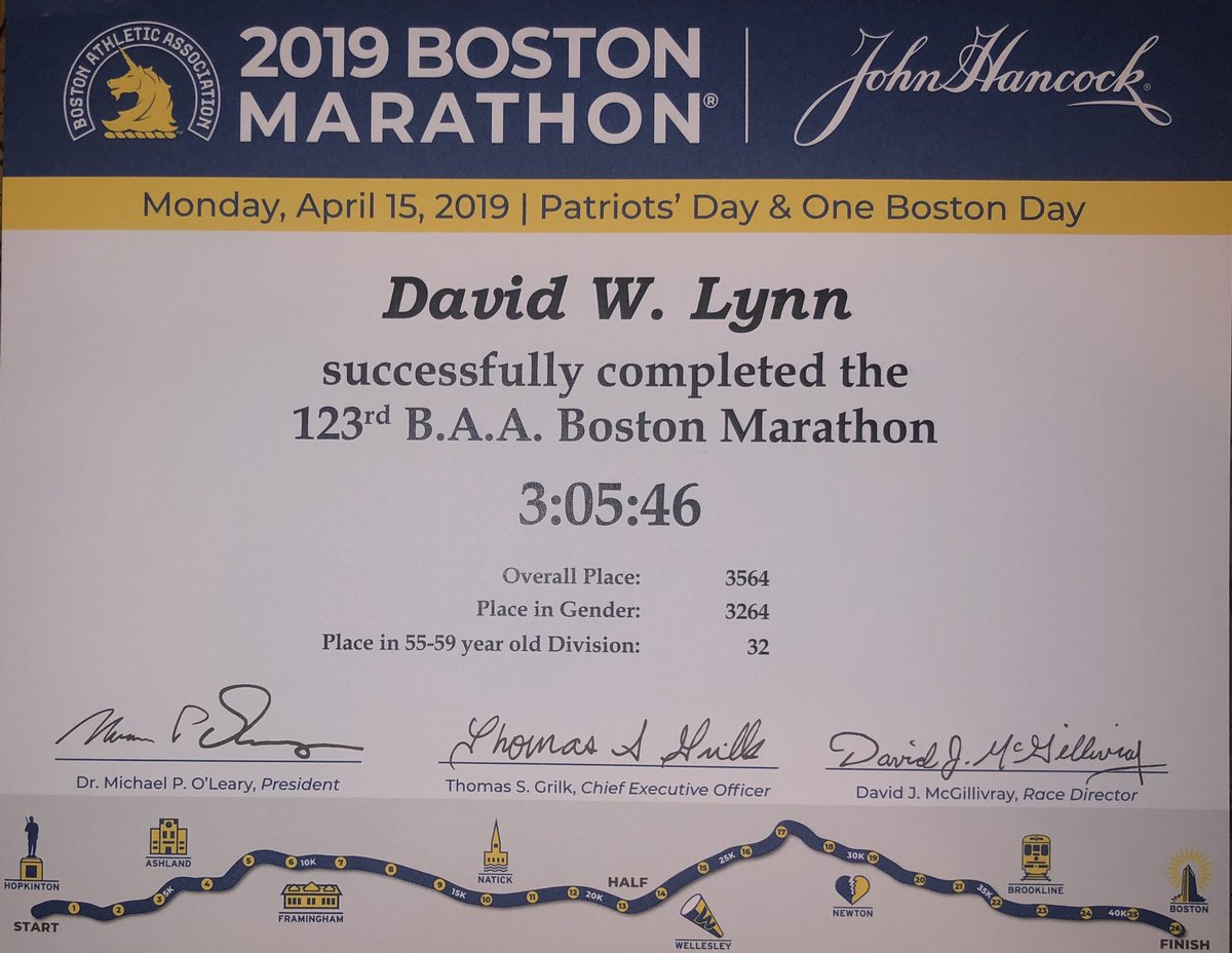 Boston #5 - Highest Age Group Finish and New All Time PR #boston2019 #runtowin #DreamBig #NeverGiveUp #cheers<br>http://pic.twitter.com/NyzD2fovRz