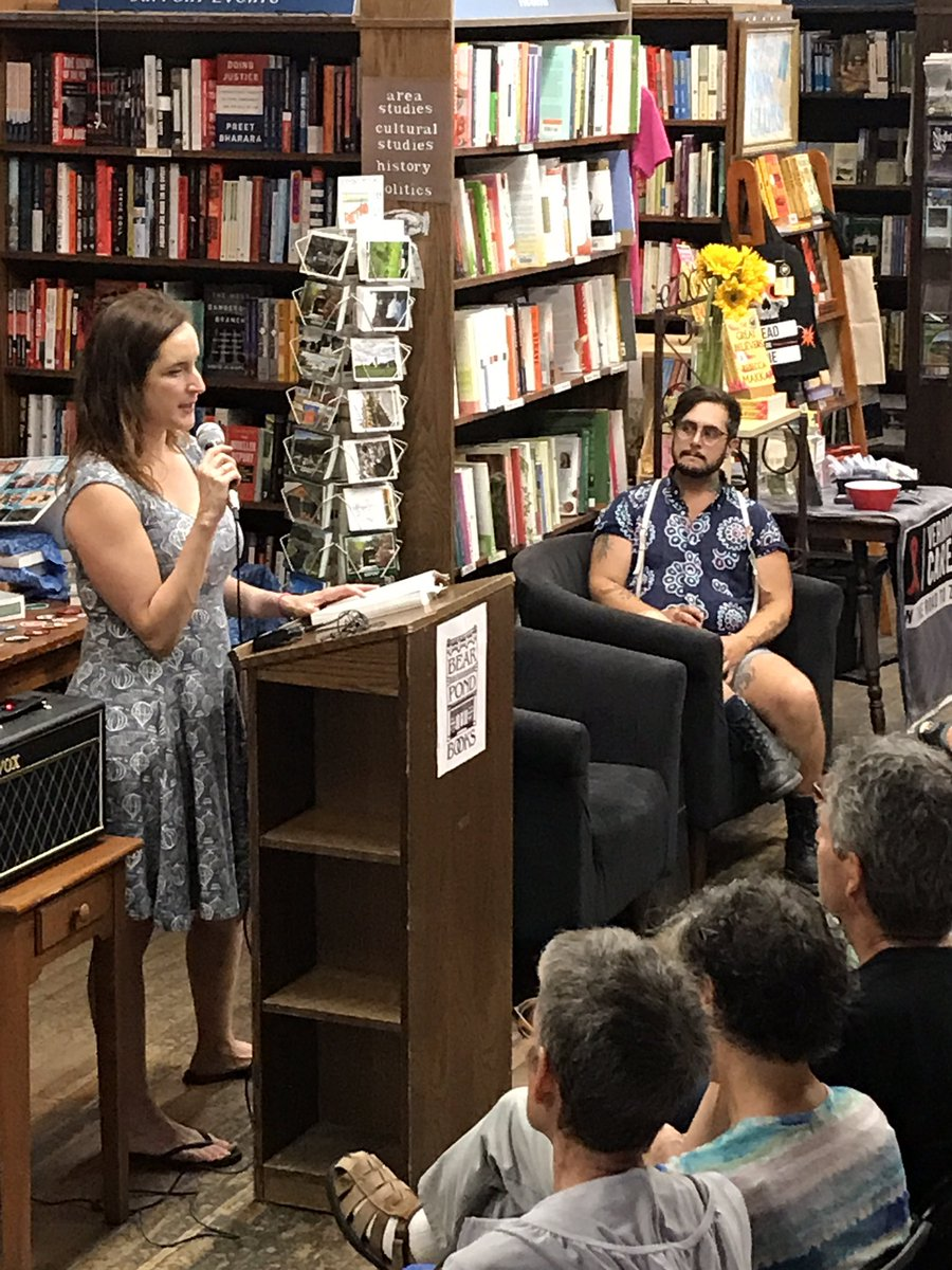 """""""They're judging him for being sick, not just the way he got it"""" @rebeccamakkai reads from #TheGreatBelievers #AIDS @penguinusa @VermontCARES"""