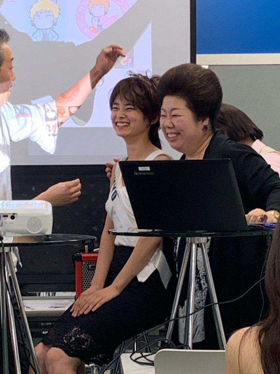 昨日の講義でウィッグをかぶせていただきました。 自分が変わると楽しくて、自然と笑顔になります(^^) 本当に楽しかったです♪  #ミスアース #ミスアースジャパン #ミスアース東京 #多田麻里絵 #まりチャンねる #心の美学