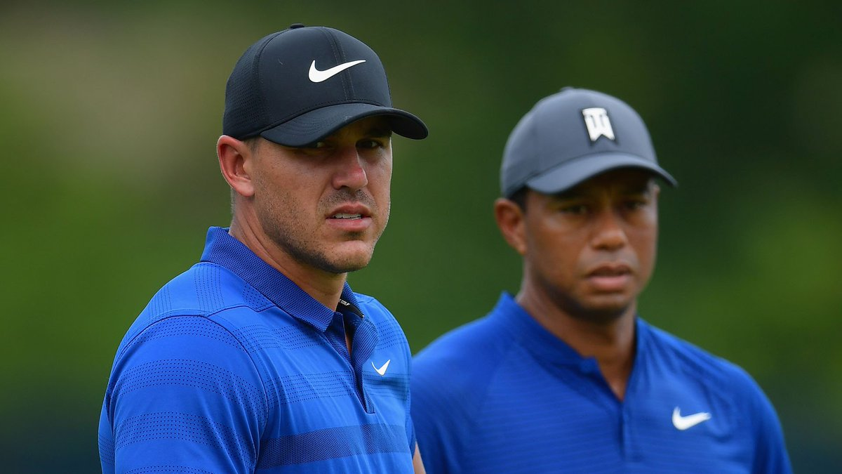 'Hey, dude, do you mind if I tag along and play a practice round?' Tiger got denied when he requested a trip around Royal Portrush with Brooks Koepka: watchgolf.ch/ywOXpE