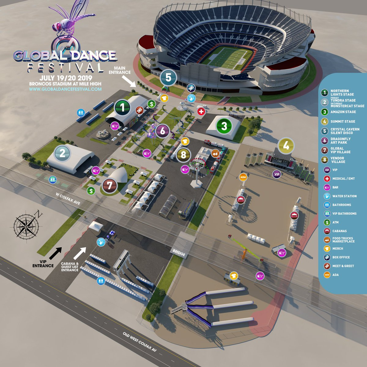 Global Dance Festival venue map