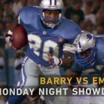 Image for the Tweet beginning: .@BarrySanders vs. @EmmittSmith22.  Doesn't get much