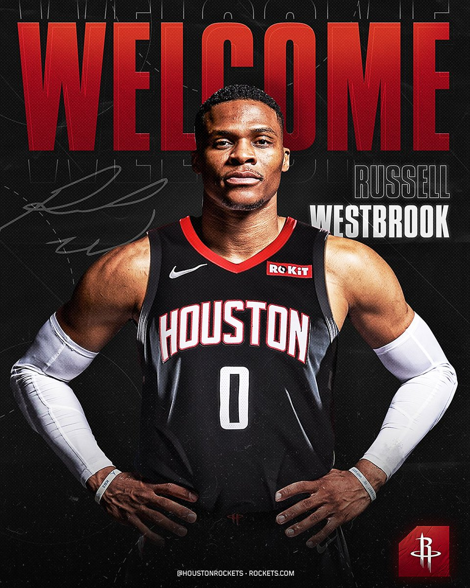 3c57f0fc It's official, RT to welcome @russwest44 to Houston!pic.twitter .com/XwN9zn1Dhj