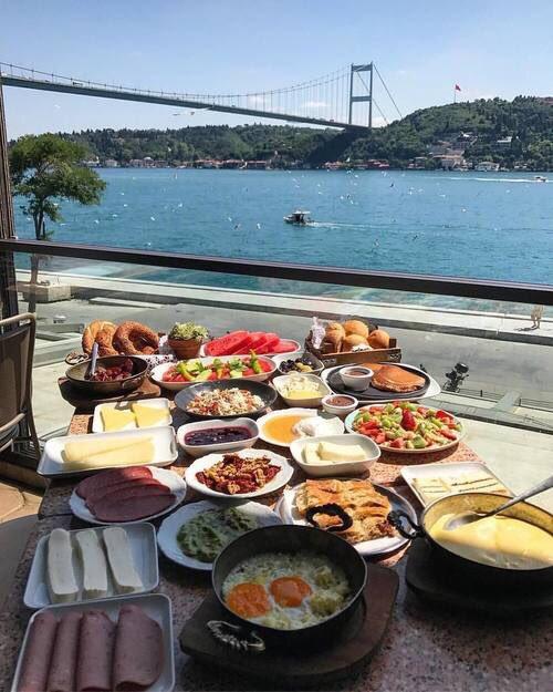 Breakfast in Istanbul, Turkey. <br>http://pic.twitter.com/8dMFdmg51g