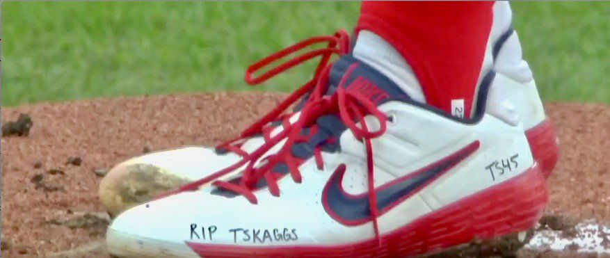 Jack Flaherty's pitching with a heavy heart. #RIP45