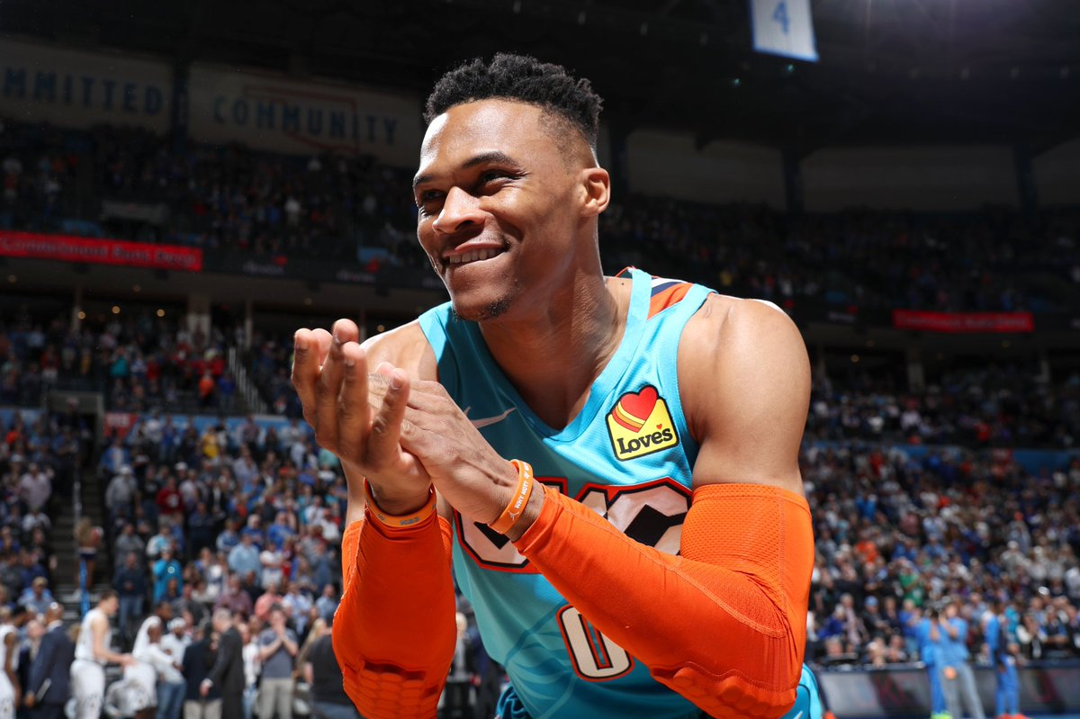 """""""Russell Westbrook is the most important player in the brief history of the OKC Thunder. He has left an indelible mark on this team, city and state."""" -GM Sam Presti"""