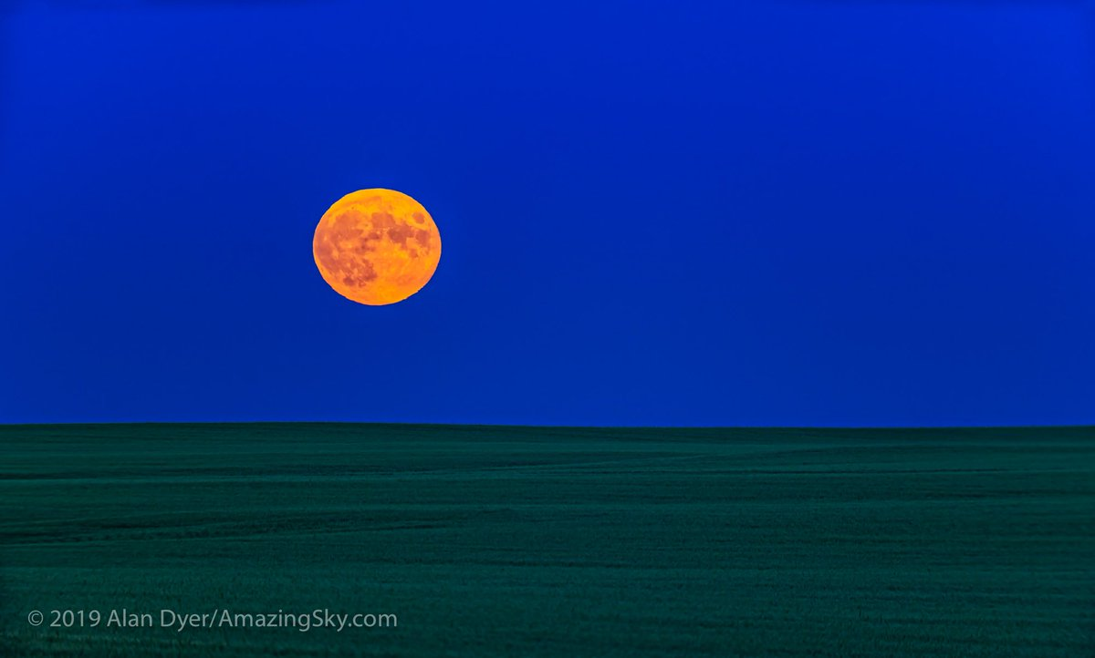The rising of the Full Moon, July 16, 2019, on the 50th