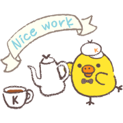 Rilakkuma ~Kiiroitori muffin cafe~ - Sticker List: GIF