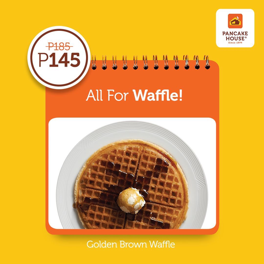 Golden brown waffle, oozing with syrup and melted butter. For only P145, this house favorite sweetens the day. #ChooseToFeelGood with our 145 Weekday Classics. https://t.co/bmmMuUHCAb
