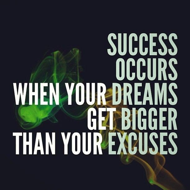 """SUCCESS OCCURS WHEN YOUR DREAMS GET BIGGER THAN YOUR EXCUSES.""  #wednesdaymorning #WednesdayThoughts <br>http://pic.twitter.com/TDn8vGPO12"