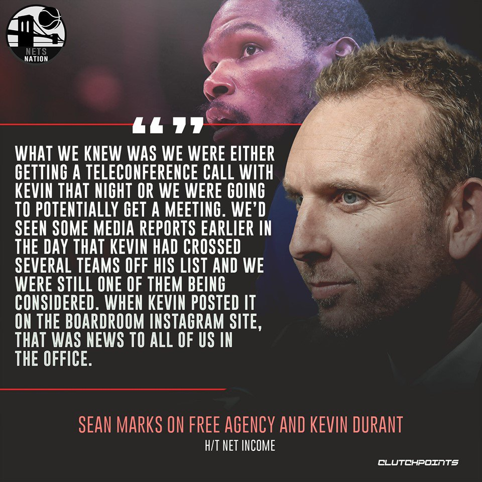 It was truly an unforgettable day, not only for Sean Marks and the front office, but for Nets Nation as well. 🙌  #WeGoHard #Nets