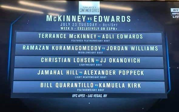 I'm officially the next fight on the contender series!! See you all next Tuesday on @espnmma + 8 pm ET. Let's get that deal done 🔥 #DWTNCS