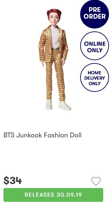 sad aussies hop over to big w and get yourself a junkook doll 😌 https://t.co/rOl2FOqJqD