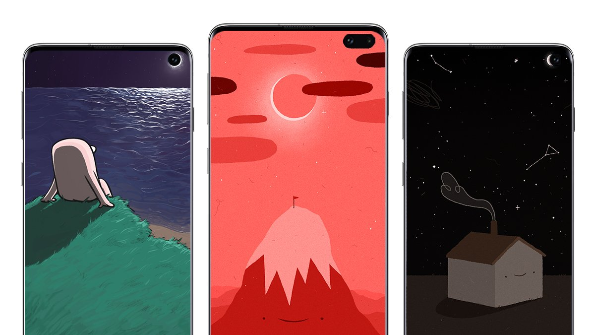 Don't let your personality be eclipsed by others. 🌑 Grab fresh wallpapers by @Ketnipz & @furrylittlpeach. Download now: http://smsng.co/S10-Wallpaper #GalaxyS10