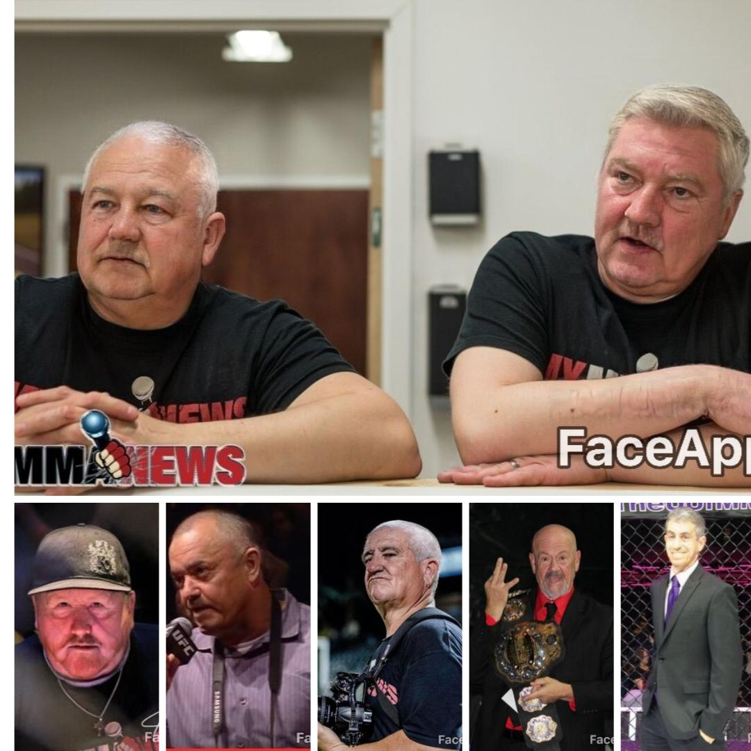A few members of the @MyMMANews team reimaged with the #FaceApp - #faceappchallenge - Adam and I look like the old dudes, Statler and Waldorf, on the Muppets while most everyone else still someone normal.