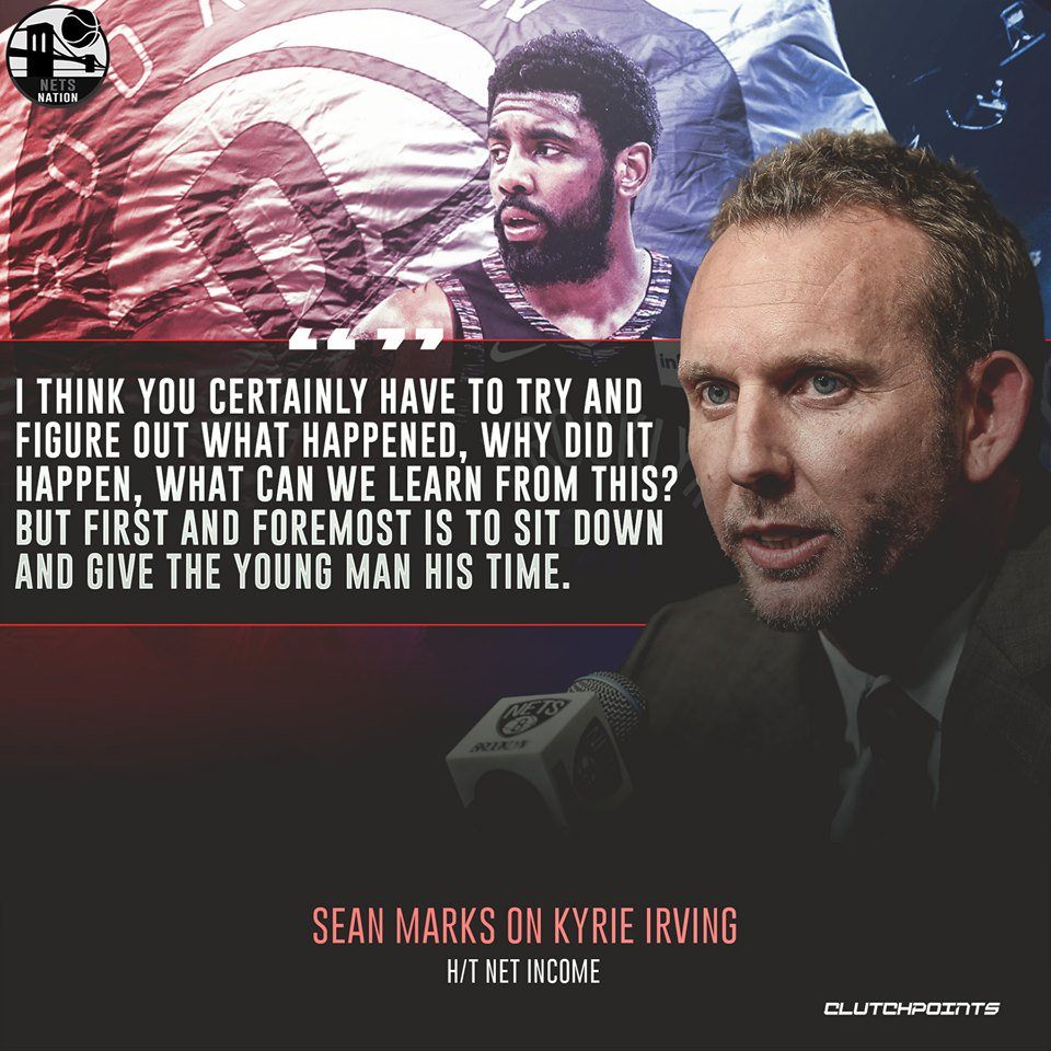 And that's exactly how Sean Marks and the front office secured Kyrie Irving's services. 👌🖊  #WeGoHard #Nets