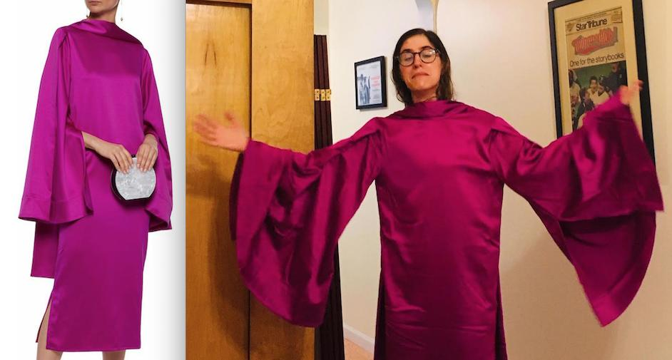 #tbt to last year's Emmys when I ordered an 'avant-garde cape' that was too sexy to wear