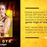 Image for the Tweet beginning: Jayde Van Dyk's never say