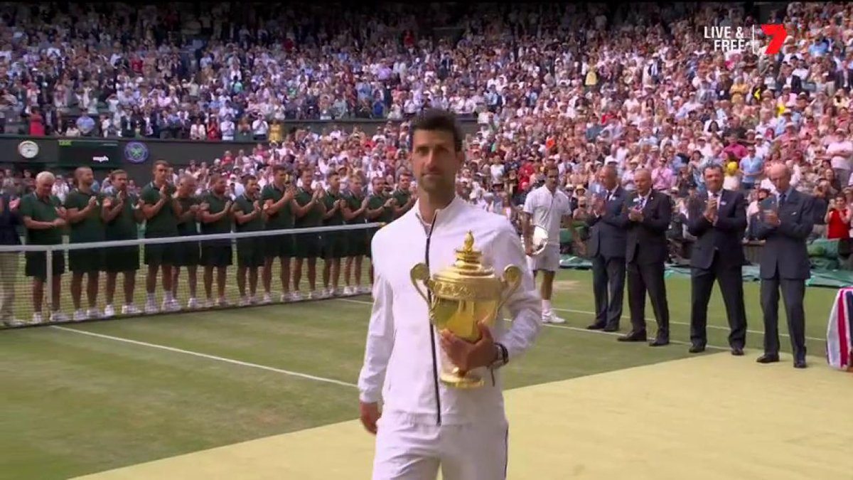 """#ICYMI: """"When I was a boy growing up ... this always has been the tournament for me.""""  - Novak Djokovic #Wimbledon"""