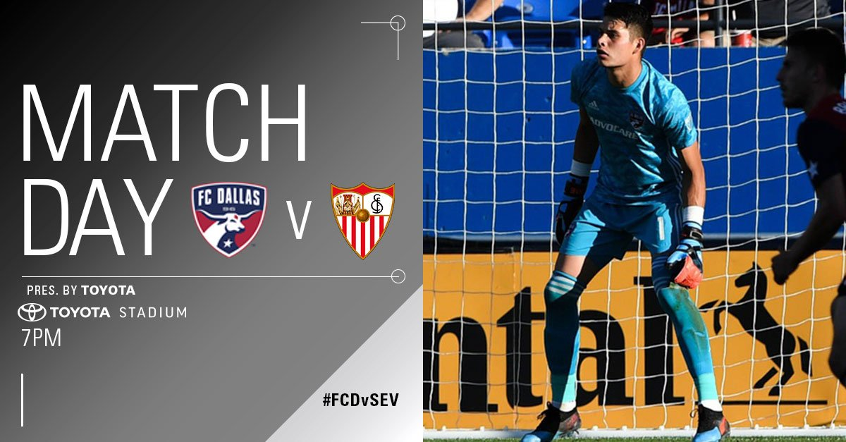 TONIGHT! Join us for the FC Dallas Summer Classic and see @LaLigaEN's Sevilla FC in one of their two North American matches!  🆚 @SevillaFC_ENG  ⏰ 7pm 📍 @ToyotaStadiumTX  🎟 http://fcdallas.com/summerclassic FAQ: http://bit.ly/2XN9EwP