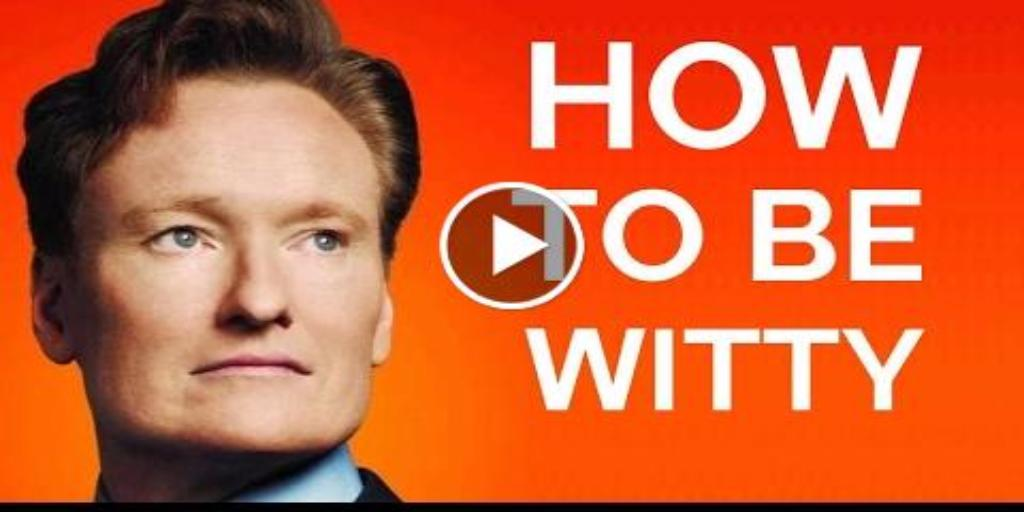 This video explains the principals of being witty, check it out. #psychology #conan #selfhelp  http://bit.ly/2gOpenz