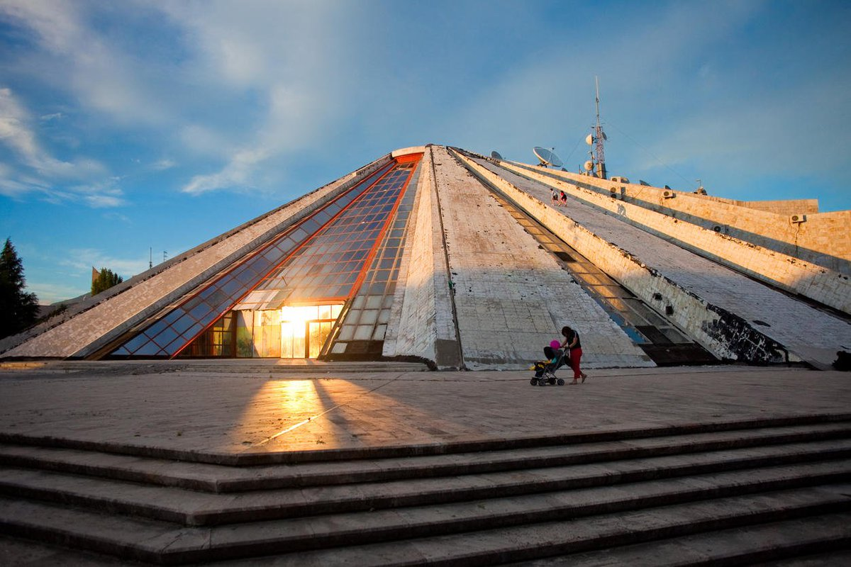 #Tirana's Pyramid Communist museum, nightclub: Now #Albanias notorious pyramid turns tech hub. Read more: bit.ly/2JBmPbd #VisitTirana
