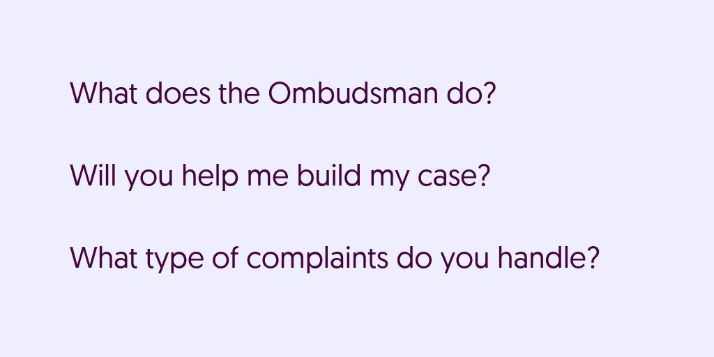test Twitter Media - Do you have questions about us? Head to the FAQ section on our website. Just click on the link. https://t.co/biafKrP1ub #ombudsman #consumer #complaints https://t.co/jg42Xgk3se