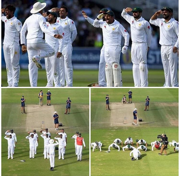 #onThisDay in 2016, Pakistan conquered Lords under @captainmisbahpk and celebrated the victory in some iconic style 😎 @TheRealPCB