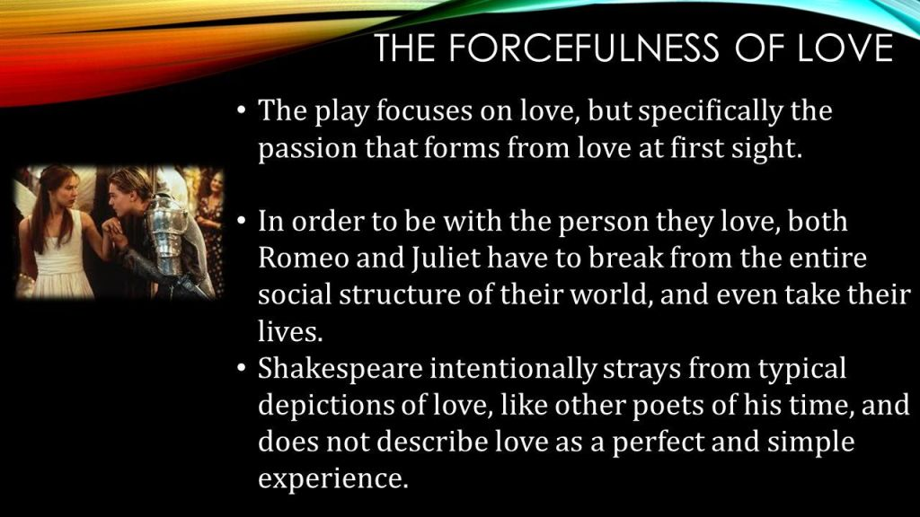 hover me on forcefulness of love quotes in romeo and