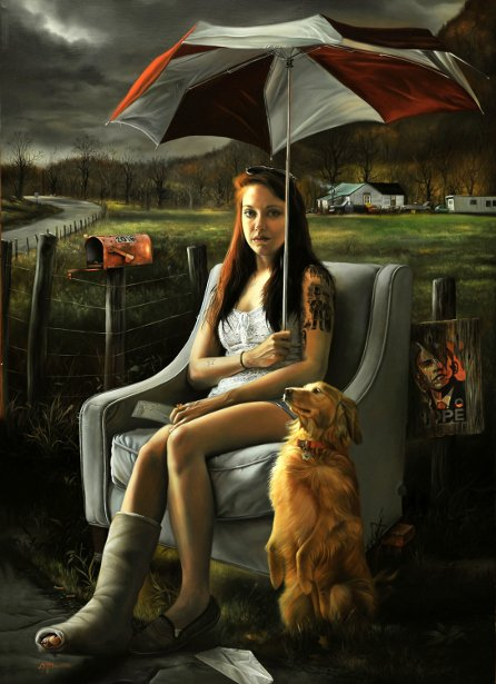 American illustrator #DavidBowers (b.1956)  graduated from art school in Pittsburgh. David taught at the #ArtInstituteofPittsburgh for ten years. In 1991, David began his illustration career w/ NYC publishers. He completed over 100 book covers in the span of over ten years.