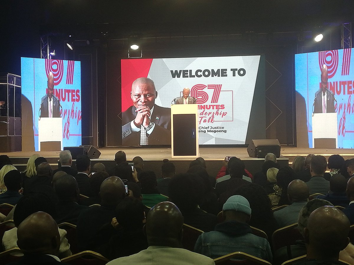 Chief Justice Mogoeng Mogoeng takes to the podium to deliver the #67MinutesLeadershipTalk #sabcnews<br>http://pic.twitter.com/H4Ym4bV5ks