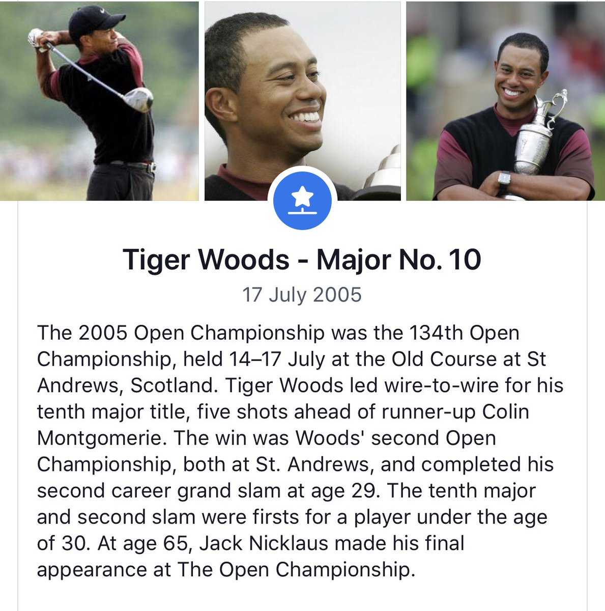 On this day 14 years ago @TigerWoods won his tenth major at St Andrews @TheOpen #goingformajor16