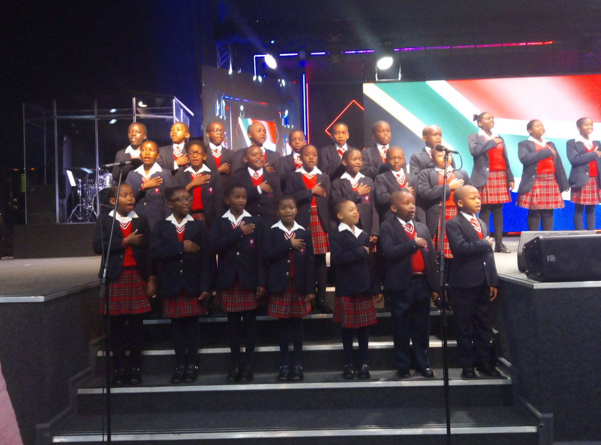 @HopeRestoration College singing the national anthem during the opening of the #67minutesleadershiptalk with Chief Justice Mogoeng. #peoplematter<br>http://pic.twitter.com/o4WAQ9JLb1