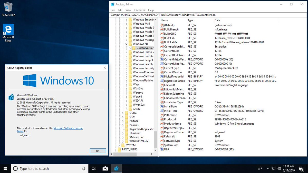 Windows 10, Version 1803 with Update [17134 915] AIO 60in2 (x86-x64