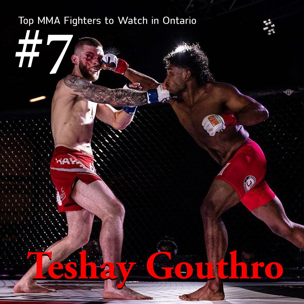➡️ Read more at the link in bio, http://theMMAchronicles.ca 🔥 Teshay Gouthro doesn't do much talking before he fights—he does his talking inside the cage. Gouthro is a Niagara Top Team standout and was able to have arguably one of the best amateur records before turning pro. #MMA