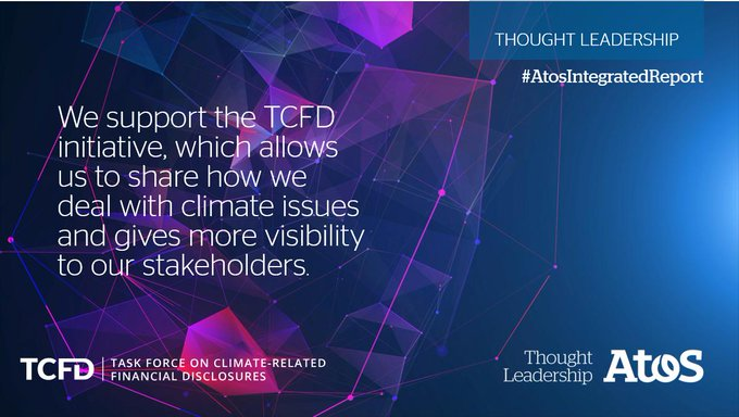 Atos follows TCFD (@FSB_TCFD) recommendations and anticipates climate-related opportunities and...