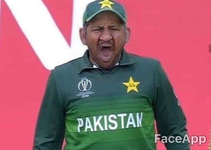 Pakistani captain #sarfaraz in 2027 #worldcup #CWC19 #CricketKaCrown #EnglandCricketTeam  #FaceApp #faceappchallenge