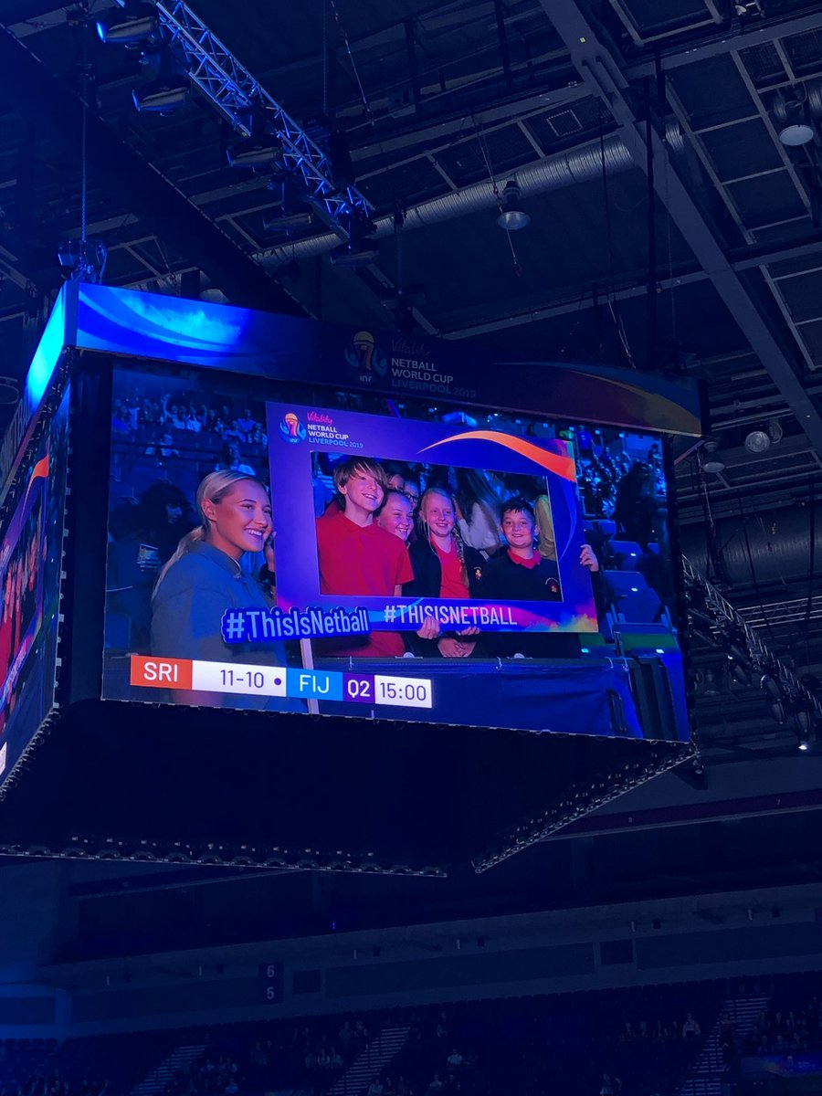 We made it on the big screen! @MonksdownSchool #NetballWorldCup2019