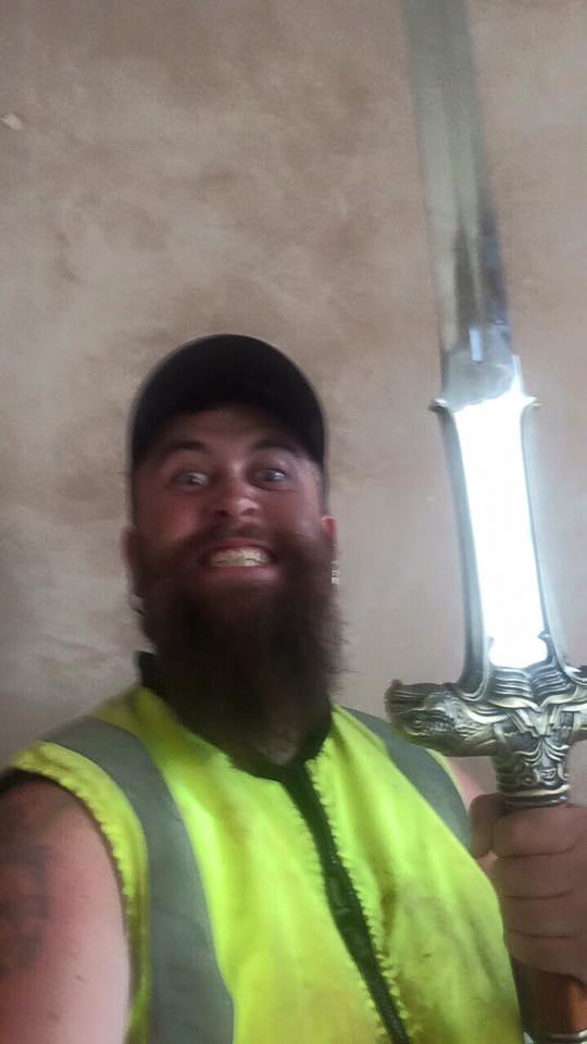 If a video game has a barbarian character, I'm gunsta choose him #Barbarian #Swords #HiVizWarrior #Conan