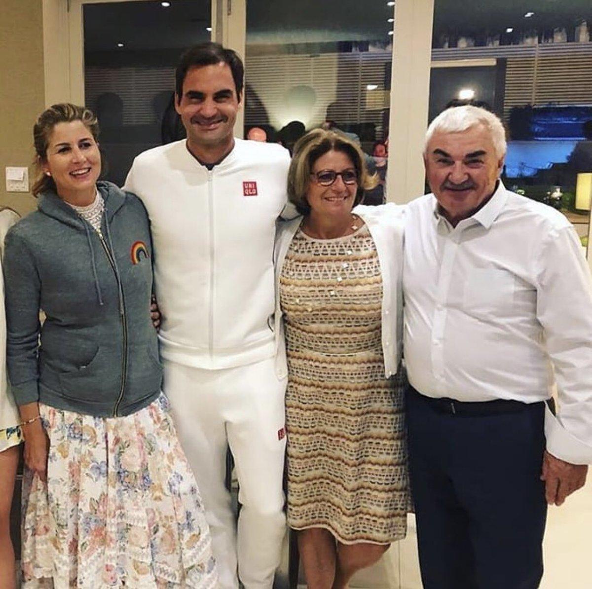 Roger Mirka Lynette and Robert what a lovely family 🥰 #federer