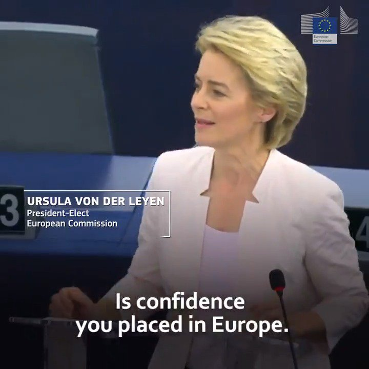 President-elect @vonderleyen has put forward priorities for her mandate: 🔹A European Green Deal 🔹An economy that works for people 🔹A Europe fit for the digital age 🔹Protecting our European way of life 🔹A stronger Europe in the world 🔹A new push for European democracy