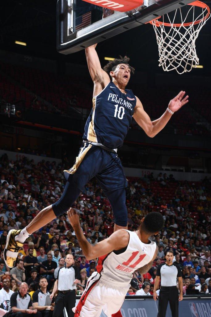 🎥 16.3 PPG | 7.3 RPG | 1.3 BPG | 63% FG Rookie-Big @hayes_jaxson (@PelicansNBA) machte in der @NBASummerLeague auf sich aufmerksam! #NBARooks | #DoItBIG