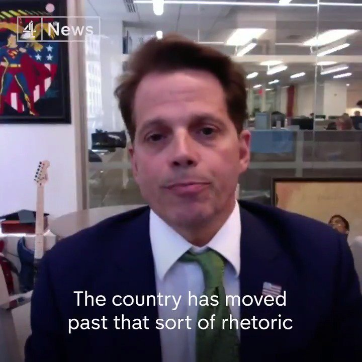 """""""The country has moved past that sort of language."""" Former Trump Communications Director Anthony Scaramucci says that the president will """"lose donors, he'll lose popular support"""" if he continues to use racist language, calling on responsible citizens to speak up."""