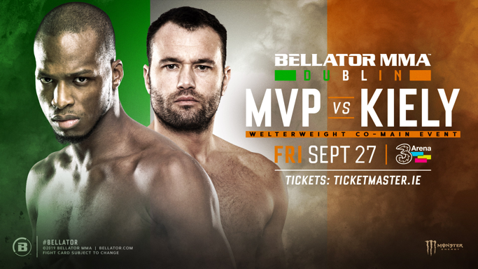 """Breaking: Per a @BellatorMMA press release -  Richard Kiely will fight Michael """"Venom"""" Page at #BellatorDublin on September 27th.  This is a huge fight in addition to the main event between James Gallagher and Cal Ellenor as @Bellator_Europe return to Dublin, Ireland."""