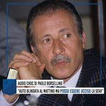 "Image for the Tweet beginning: 📟#Borsellino ""Posso essere ucciso ogni"